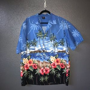 8a6a786e PalmWave Hawaii palms /dolphins button up size XL
